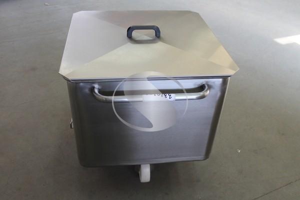 Тележка для фарша 200 литров с крышкой