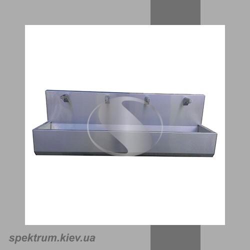 Умывальник четыре секции с фотоэлементом сенсорный из нержавейки