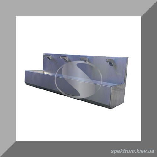 Умывальник четыре секции с фотоэлементом из нержавеющей стали
