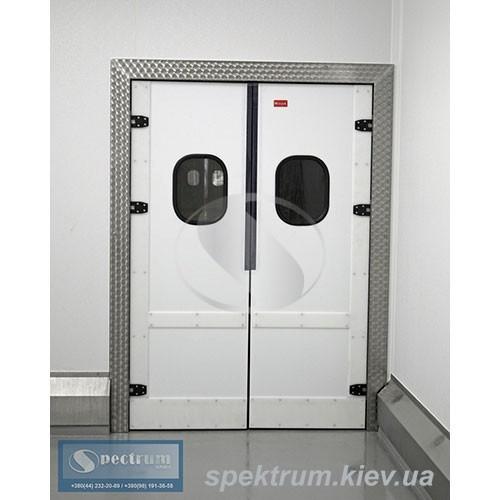 Двери маятниковые из пластика