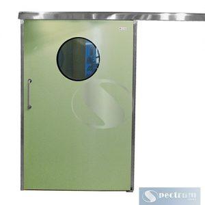 Двери лакированные с нержавеющей коробкой