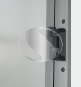 Морозильные двустворчатые петлевые двери полу фальцевые