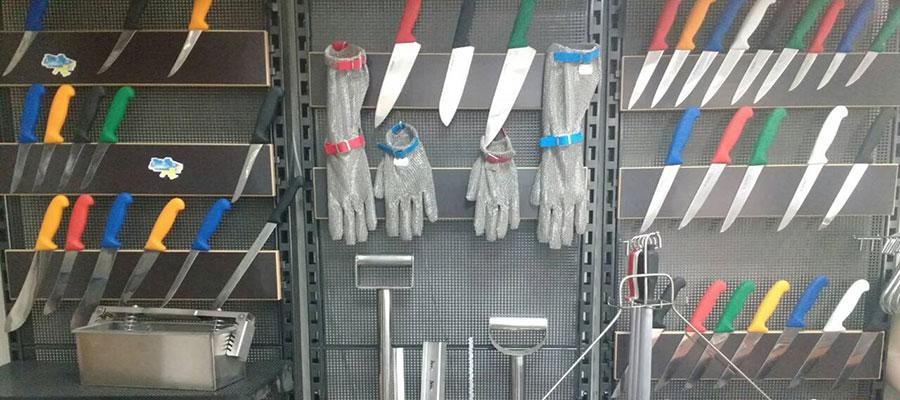 Изделия ножи и перчатки для обвалки мяса