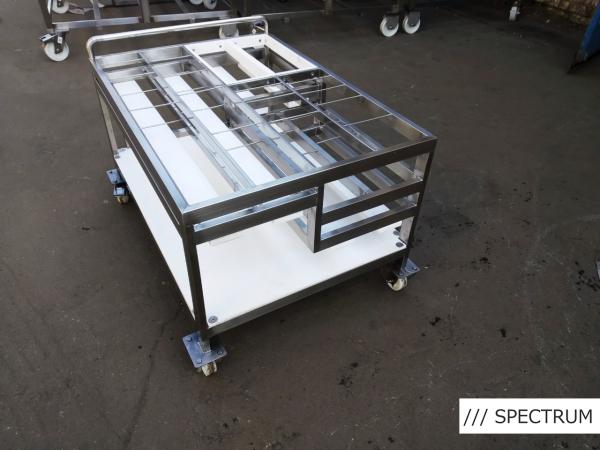 Тележка для упаковочной машины из нержавейки