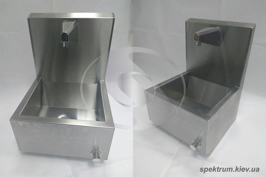 Умывальник бесконтактный с клапаном 400х400х600